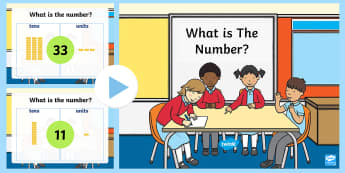 Place Value Base Ten Activity PowerPoint Tens and Ones - activity