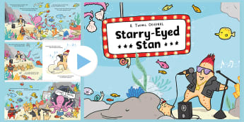 Starry-Eyed Stan Story PowerPoint - Fiction, Originals, Story, Book, Read, Reading, Starfish, Sea, Ocean, Under The Sea, Crab, Crabs, Fi