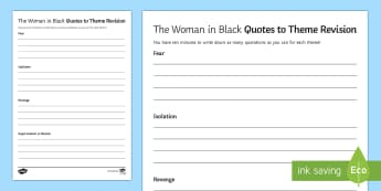 Theme Quotations Quick Revision Activity - The Woman in Black