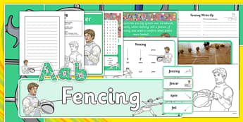 The Olympics Fencing Resource Pack - Fencing, Olympics, Olympic Games, sports, Olympic, London, 2012, resource pack, pack resources, activity, Olympic torch, events, flag, countries, medal, Olympic Rings, mascots, flame, compete