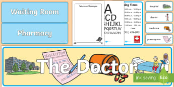 Doctor Role Play Pack - doctor, role-play, pack, display, health, community helpers, bulletin board, pretend