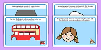 2D Shape Playdough Mats English/Polish - 2D Shape Playdough Mats - Playdough mat, playdough resources, 2D shapes, shape learning, shape names