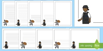 Cops and Robbers Page Border Pack - cops and robbers, crime, people in work, police, jobs, borders, page writing, writing templates, bor