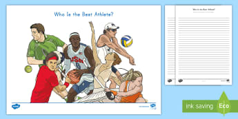 Who is the Best Athlete? Opinion Writing Activity Sheet - Final Draft, Writing frame, W3.1, informational text, writer's Workshop, work on writing, publish,