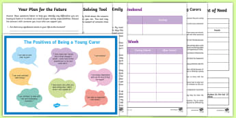 Young Carers Support Activity Pack - young people, relationships, families, changes, emotion, behaviour, support