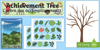 Ready Made Achievement Tree Display Pack English/French - Ready Made Achievement Tree Display Pack - ready made, display, EAL French,French-translation