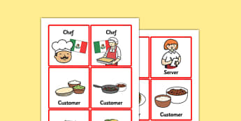 Mexican Restaurant Role Play Badges - mexican, restaurant, mexican restaurant, role play, badges, role play badges, badges for role play, name badges