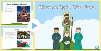Pŵerbwynt Dydd Gŵyl Dewi - Saint David, Saint David's, Dewi Sant , Gwyl dewi Sant, darllen, reading, Tyddewi, St Davids, mona