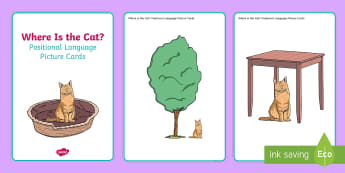Where is the Cat? Positional Language Picture Cards - EYFS, Early Years, Animals, Pets, Cat, Kitten, Maths, Mathematics, Communication and Language, Posit