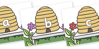 Phase 2 Phonemes on Beehives - Phonemes, phoneme, Phase 2, Phase two, Foundation, Literacy, Letters and Sounds, DfES, display