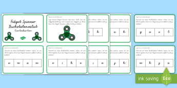 Fidget Spinner Buchstabensalat : DIN A4 Karteikarten - Wortbildung, Buchstaben, Wörter, Wort, Worte, Stoppen, Druckschrift, Schreibschrift, VA, Vereinfach