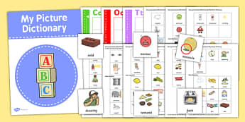 Sensory Vocabulary Picture Dictionary Word Card Set - dictionary