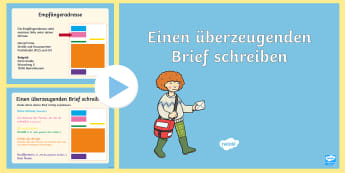 Einen überzeugenden Brief schreiben PowerPoint - Briefe, Post, Schreiben, Aufbau, Privatbrief, Geschäftsbrief, Deutsch