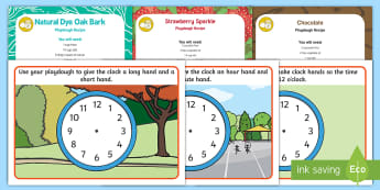 Time Playdough Recipe and Mat Pack - time, clock hands, tell the time, playdough recipe. playdough mats, ,alleable area, malleable, messy