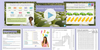 Cover Lesson: Practise with Large Numbers 20-99 Cover Work Lesson Pack French - numbers, cover work KS3, French cover work, French numbers, chiffres, numeros,French