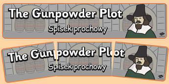 The Gunpowder Plot Display Banner Polish Translation - polish, gunpowder plot, display, banner