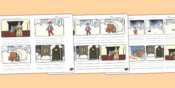 The Mitten Storyboard Template - the mitten, storyboard, template