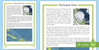 Hurricane Irma Fact File - Hurricane, Harvey, Irma, Tropical Storm, Storm, Flooding, Storm Surge, Florida, Puerto Rico, Cuba, U