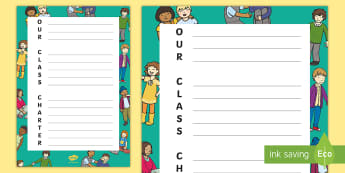 Class Charter Acrostic Poem - rules, behaviour, back to school, poetry, english