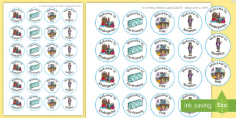 Editable Welcome  Stickers - EYLF, Australia, Rewards, Early Childhood, Early Years, beginning of year, first day,Australia