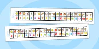 My 0 20 Number Track - 0-20 numberline, numberlines, number track, number line, 0-20 number track, maths aid, number sheet