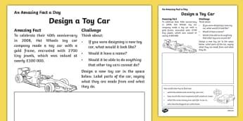 Design a Toy Car Worksheet / Activity Sheet, worksheet
