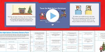 Twas the Night Before Christmas Sensory Poem Pack - twas the night before christmas, sensory poem, pack