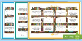 Leseverständnis Lernziele nach Bloom Lern- und Unterrichtsmaterialien - Lesen, Verstehen, Bloom, Lektüre, Buch, ,German