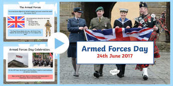 Armed Forces Day PowerPoint - army, RAF, Nacy, SAS, Air Force,