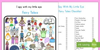 Fairy Tale Themed I Spy With My Little Eye Activity - fairy tale, I  spy, activity, visual