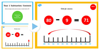 Year 2 Subtracting 2 Numbers and Ones Pairs and Bonds to 10