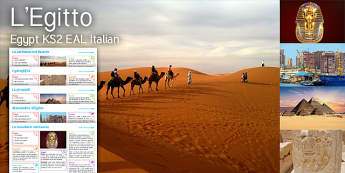 Imagine Egypt KS2 Resource Pack Italian - Egypt, Caravan, Symbols, Pyramids, Hieroglyphics, Alexandria, Sphinx, Mask, Tutankhamun, Pharaoh, it