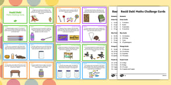 KS1 Roald Dahl Maths Challenge Cards