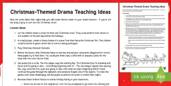 Christmas Themed Drama Teaching Ideas - Act, Acting, Improvisation, Games, Holiday, perform, creative, ,Scottish