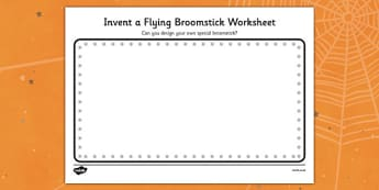 Invent a Flying Broomstick Activity Sheet - room on the broom, invent a flying broomstick, worksheet, themed activities, creative worksheet