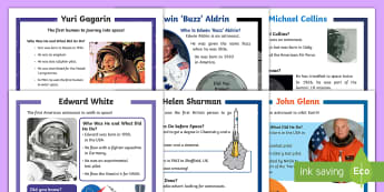KS1 Space Differentiated Reading Comprehension Activity Pack - space week, Information, Non-fiction, Astronaut, guided reading