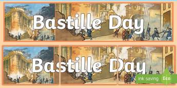 Bastille Day Display Banner - bastille day, display banner, banner