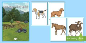 Farm Animals Game - Game, German, MFL, Languages, Deutsch, Farm Animals, Animals, Tiere, Bauernhof