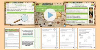 New Horizons Lesson 1: The Lost Colony of Roanoke Island Differentiated - Colony, Roanoke, Elizabeth I, Sir Walter Raleigh, America, Virginia, Virginia Dare, Spain, England