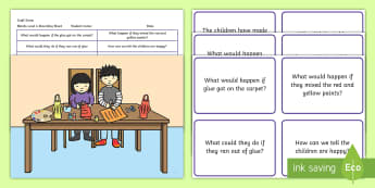 Craft Scene Blanks Level 4 Questions - receptive language, expressive language, verbal reasoning, language delay, language disorder, comprehension, autism