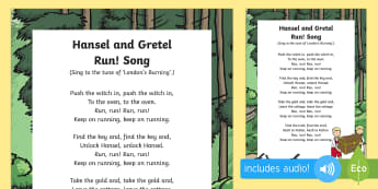 Hansel and Gretel, Run! Song - Hansel, Gretel, Grimm, Fairly Tale, Traditional Tale, Singing, Song Time
