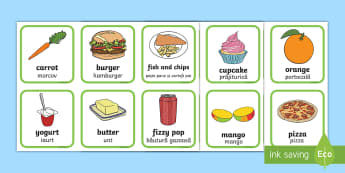 Healthy And Unhealthy Sorting Activity English/Romanian - Healthy And Unhealthy Sorting Activity - food, sorting card, flashcards, sort, healthy, unhealthy, a