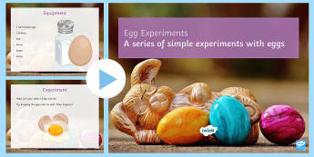 Egg Experiments - Secondary - Easter Resources, floating or sinking, shrinking, squirting, egg shell