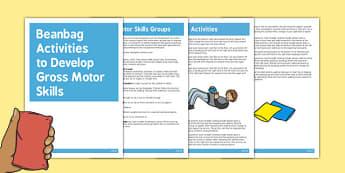 Beanbag Gross Motor Skills Activities - Motor, Skills, Beanbag