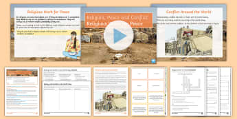Religious Work for Peace Lesson Pack - Peace; conflict; war; Pax Christi; Red Crescent