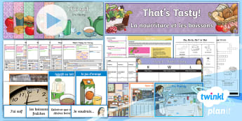 French: That's Tasty!: Year 5 Unit Pack - french, languages, grammar, food, drink, breakfast, sandwiches, pizza