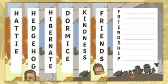 Don't Hog the Hedge! Acrostic Poem Activity Sheets - Twinkl Originals, Fiction, Autumn, Hibernate, Woodland, Animals, poetry, worksheets, initial letter