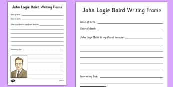 John Logie Baird Writing Frame - john logie baird, writing frame, writing, frame