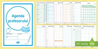Agenda profesorului - planificare, organizare, română, materiale,Romanian