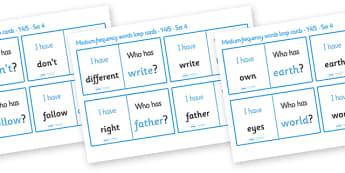 Medium Frequency Words Loop Cards Set 4 (Y4 & Y5) - medium frequency words, loop cards, set, set 4, frequency words, words, medium, Y4, Y5, year 4, year 5, five, four, year, loop cards, cards, flashcards, loop, image